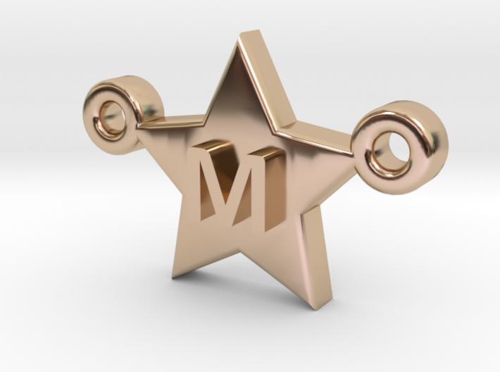 Customizable Star Letter Pendant -1,45cm 3d printed