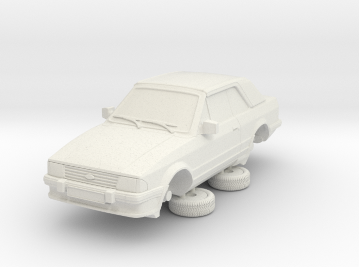 Ford Escort Mk3 1-87 2 Door Cabriolet 3d printed
