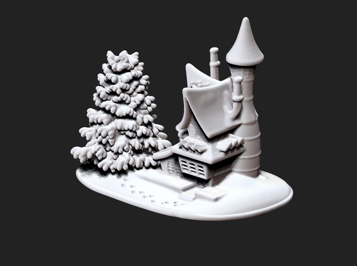 Snow House-w 3d printed