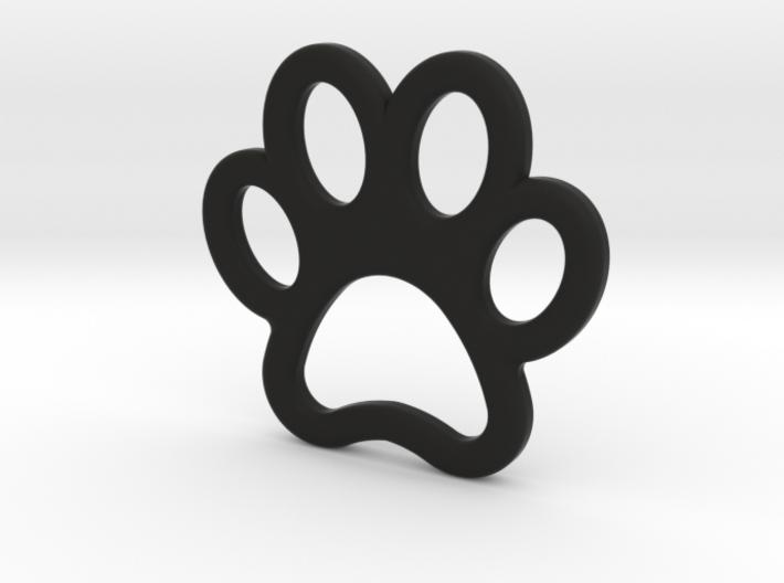 Paw Print Pendant - Small 3d printed