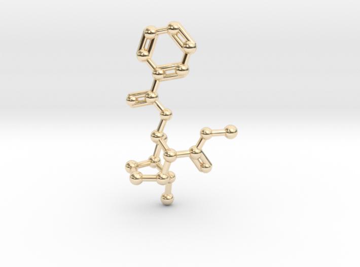 Cocaine Molecule Necklace Keychain 3d printed