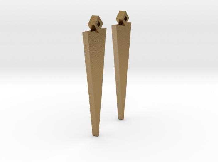 Earrings Pair Triangle Model 3d printed