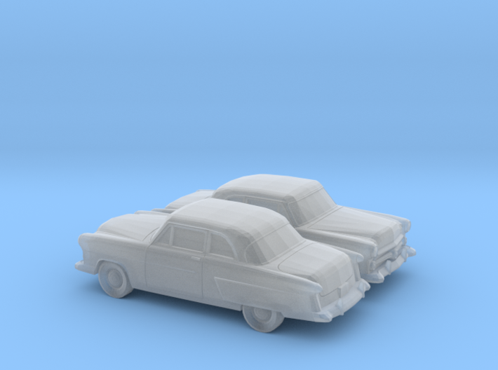 1/160 2X 1952 Ford Crestline Coupe 3d printed