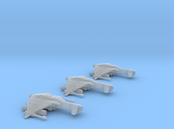 3-Pack Vaksai Fighter Variant 2B 1/270 3d printed