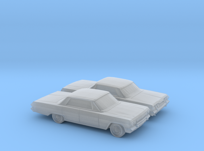 1/160 2X 1963 Chevrolet Impala 4 Door 3d printed
