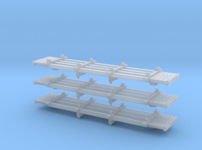 N Scale West Side '4 Bunk' Skeleton Log Car 3d printed