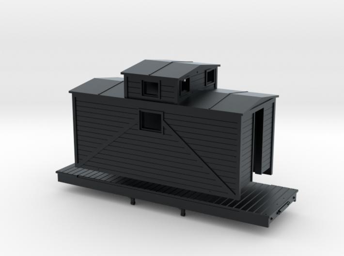 N Scale logging Caboose 3d printed