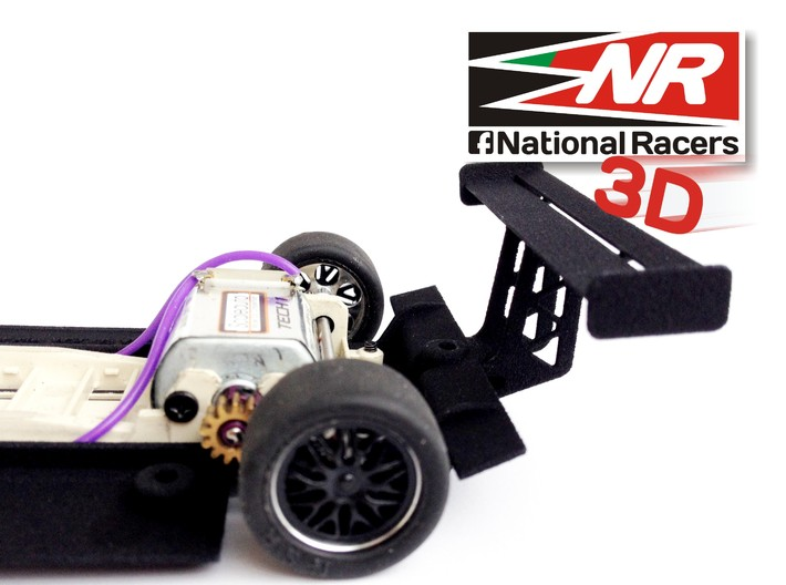3D chassis - Fly Joest TWR Porsche WSC 95 (SW/In) 3d printed Rear wing details
