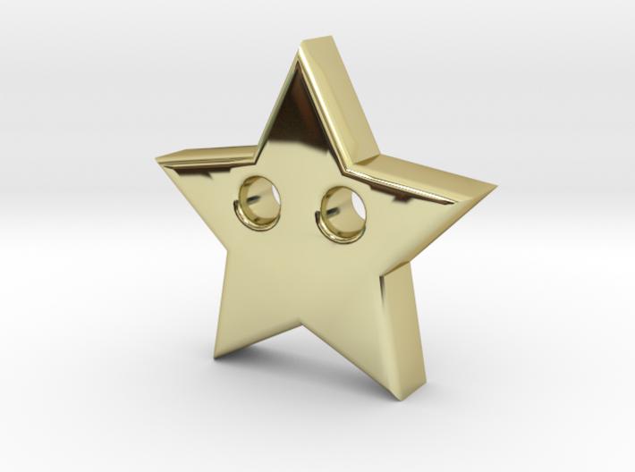 Star Pendant (2 Holes) 3d printed