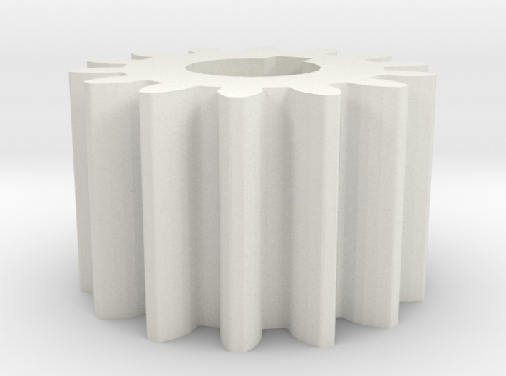 Cylindrical gear Mn=1 Z=14 AP20° Beta0° b=10 HoleØ 3d printed