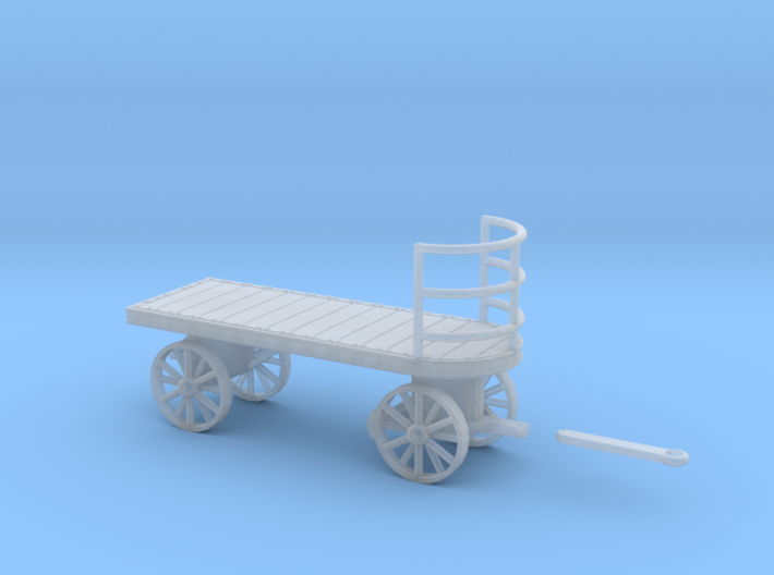 Canadian Railway Postal Baggage Cart - HO (1:87) 3d printed