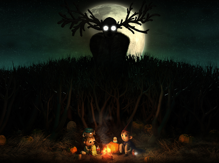 Over the Garden Wall - Shadow Projector 3d printed To see more of my non physical work, visit lukegonet.com !!!