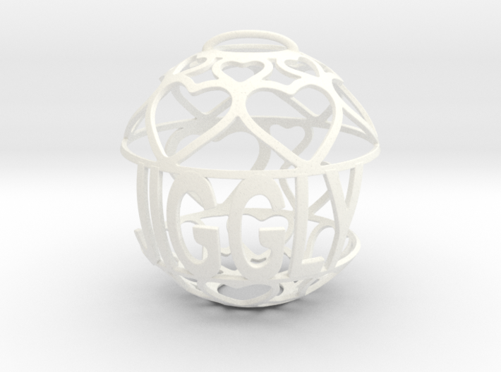 Jiggly Lovaball 3d printed