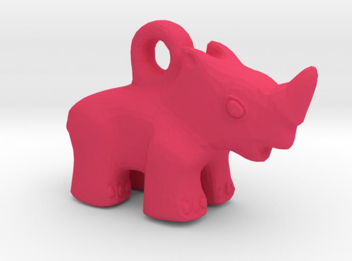 Baby Rhino Pendant 3d printed