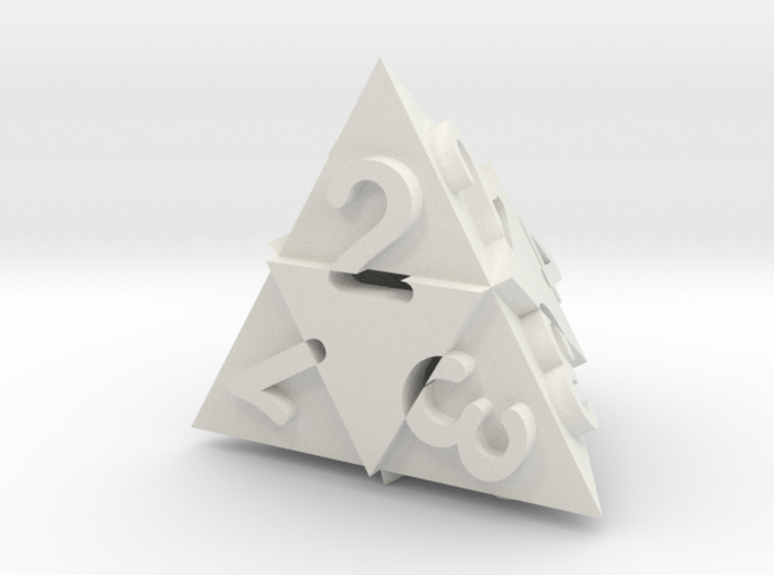 Optical Art D4 Dice 3d printed