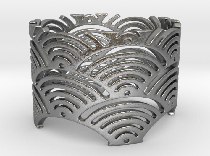 Ocean Waves Ring (Size 10.25-13) 3d printed