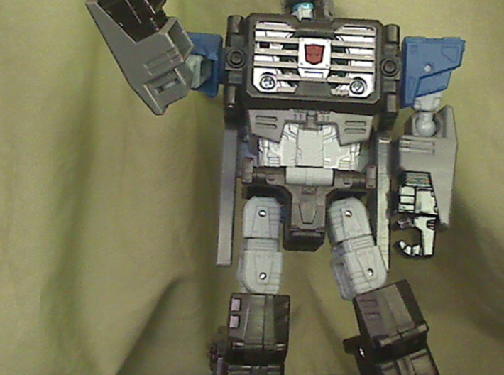 Mini Blaster inspired by Fortress Maximus' guns 3d printed