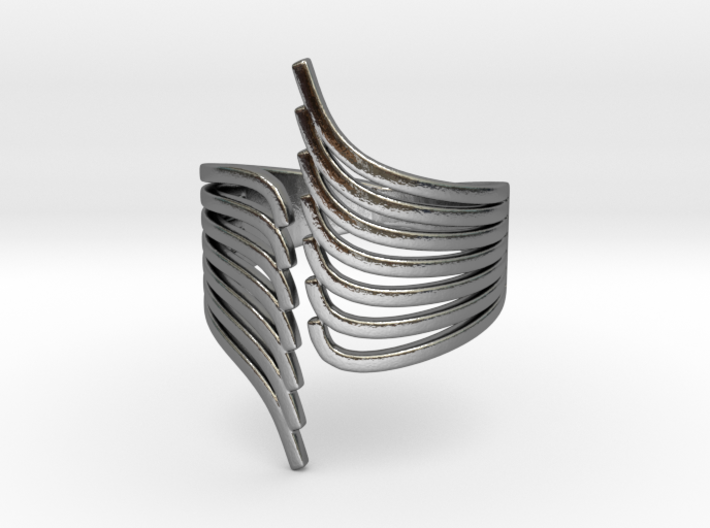 Open Wing Ring 3d printed
