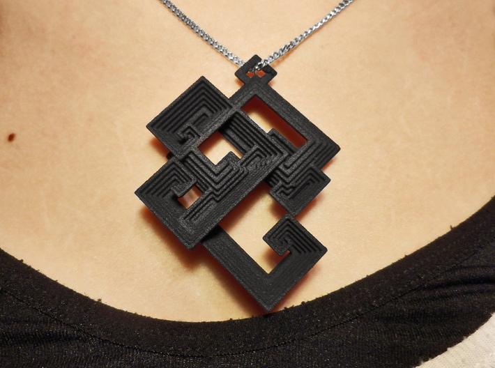 Bismuth pendant 3d printed Bismuth Pendant