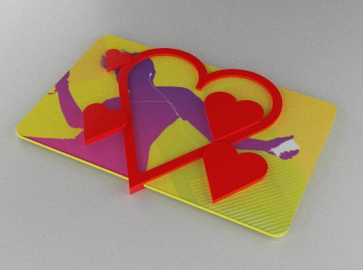 Gift Card Holder Multiple Hearts 3d printed