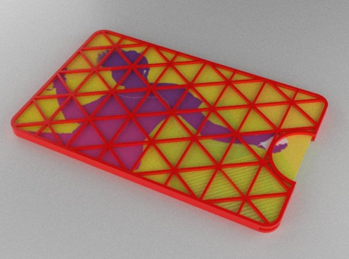 Gift Card Holder Triangles 3d printed