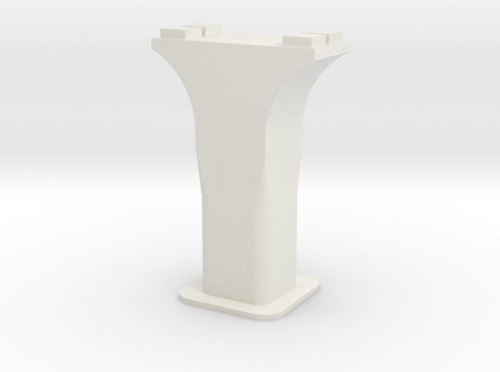 HO/1:87 Precast concrete bridge column set (small) 3d printed