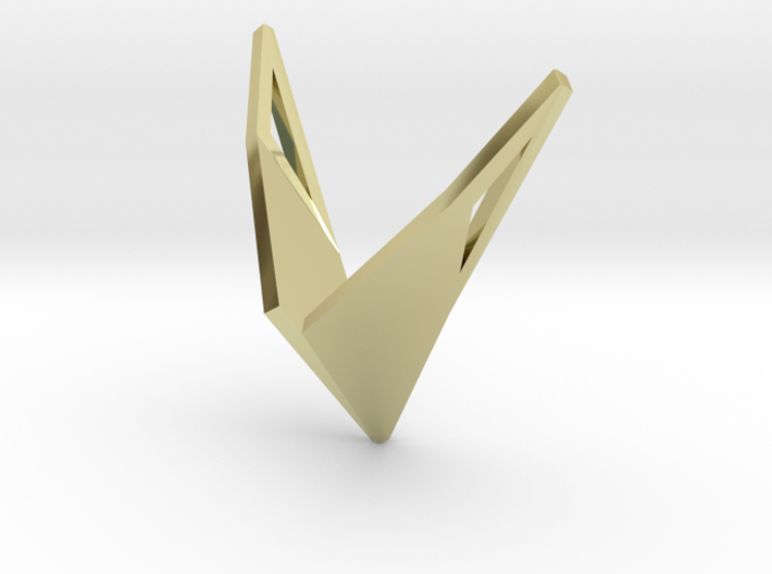 sWINGS Origami, Pendant 3d printed