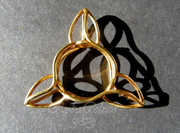 Ring The triangle/ size 6 US (16.5 mm) 3d printed