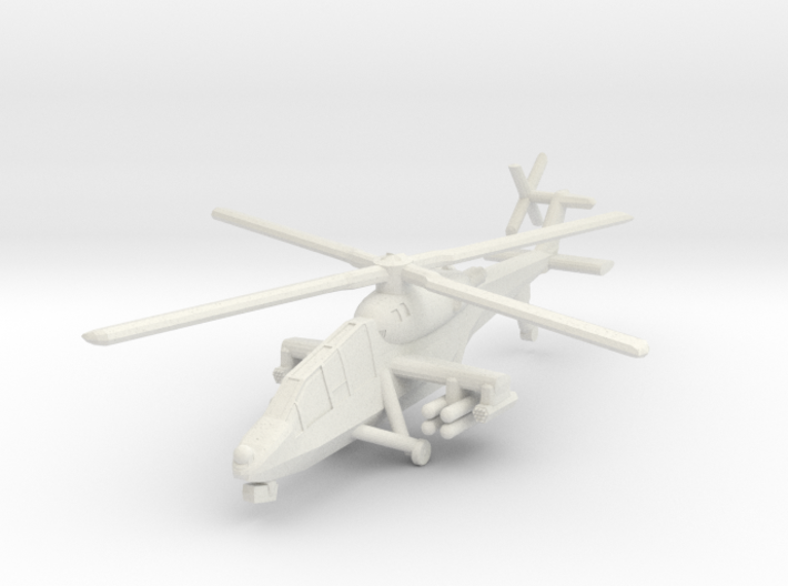 1/300 HAL Light Combat Helicopter 3d printed
