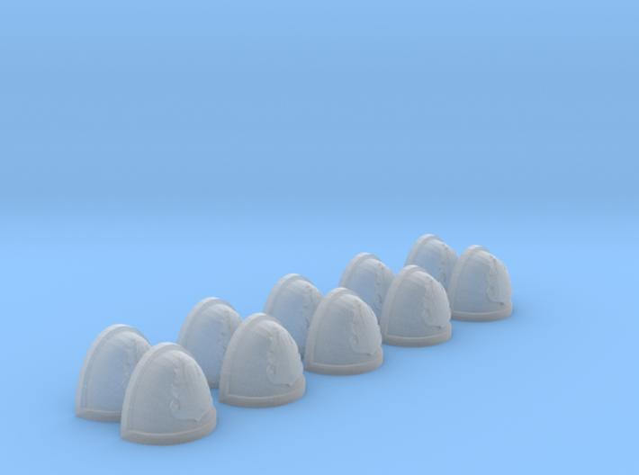 10 Shoulder Pads Flame #6 3d printed