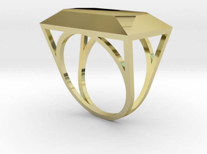 Emerald Top Ring - US Size 06 3d printed