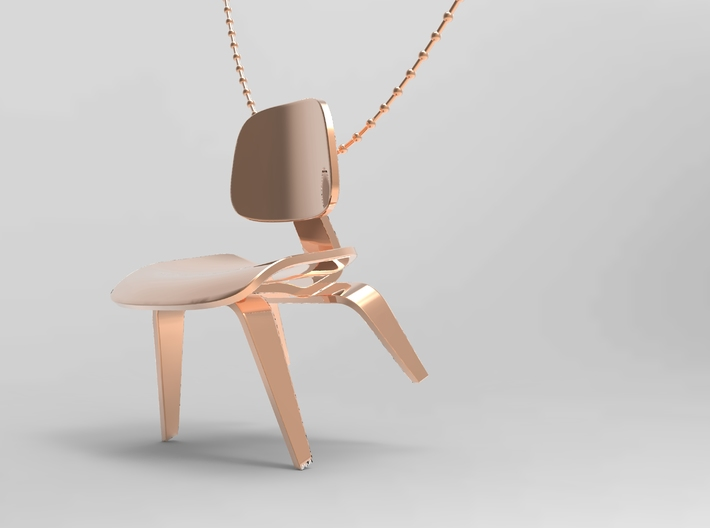 Eames Style Chair Necklace 3d printed