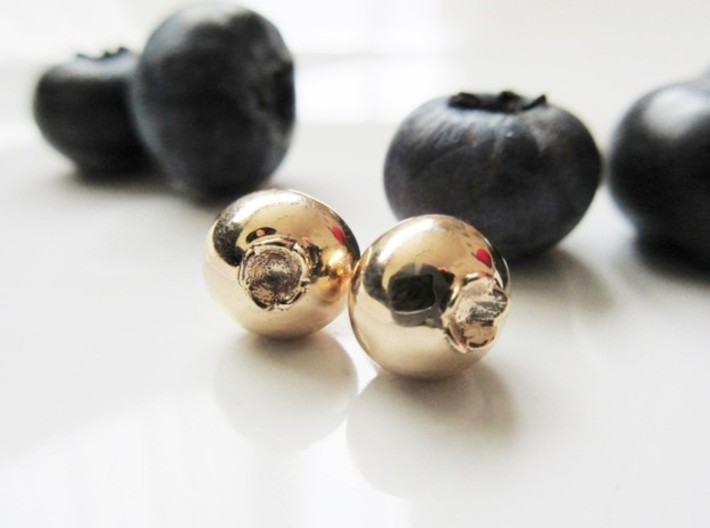 Delicious Blueberry Fruit Earrings 3d printed