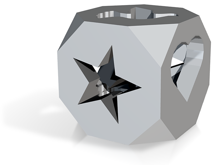 Twinkle Dove Cube 3d printed
