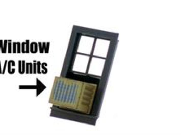 Air Conditioners for Windows 4 In HO Scale 3d printed