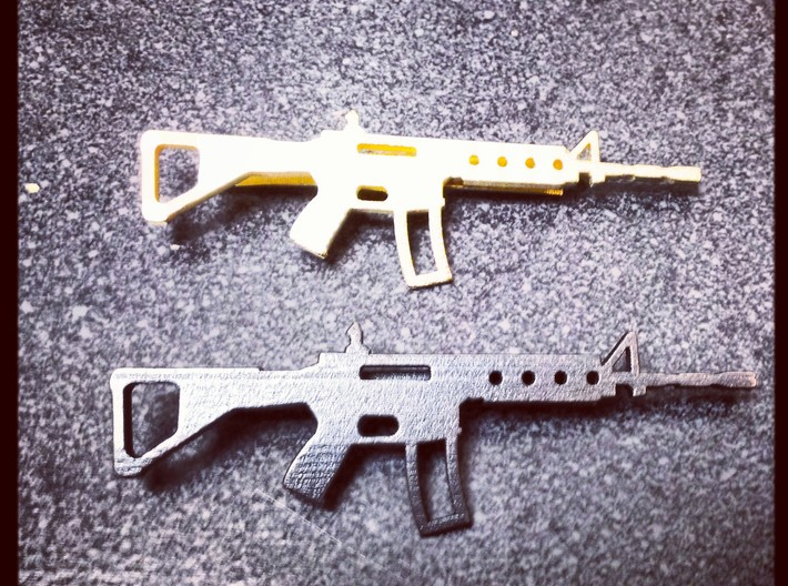 AR-15 MONEY/TIE CLIP 3d printed