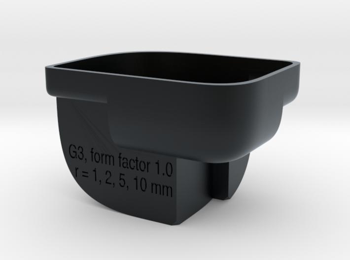 Designers' Radius Scale Tool - G3, metric, small 3d printed