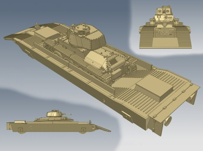 1-72 Pz-Tr-W+ PzKpfw 38t For BP-42 3d printed