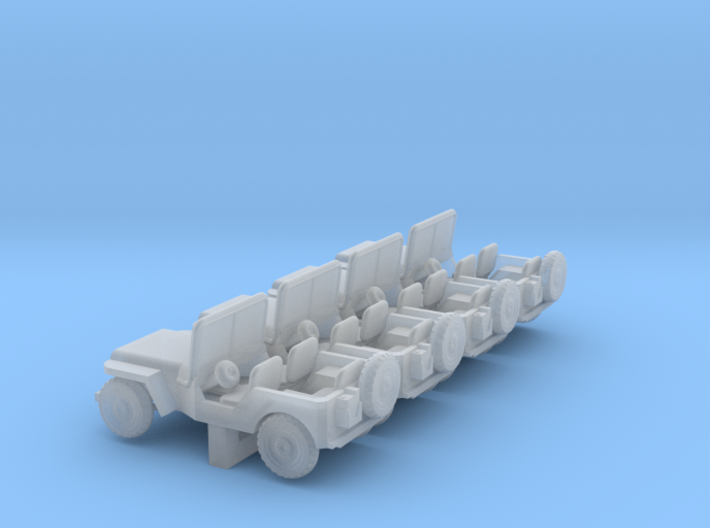 Jeep - Set of 4 - Zscale 3d printed