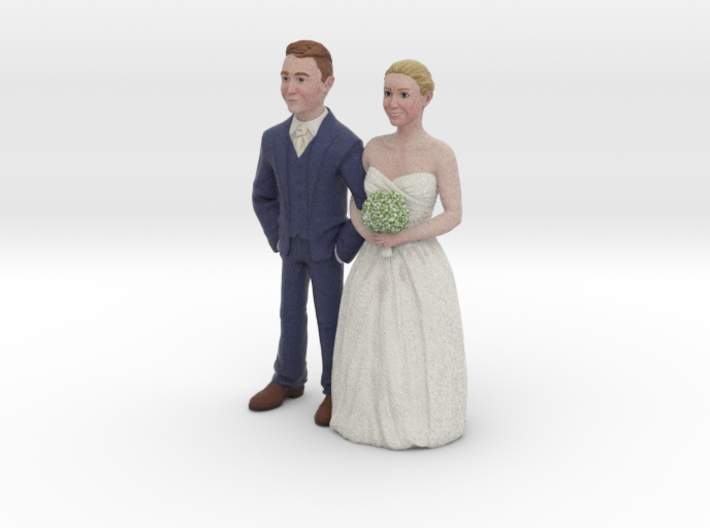 Custom Wedding Cake Toppers 3d printed