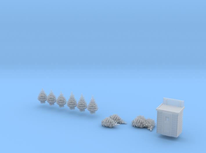 SET Weihnachtsbäume-Markt (N 1:160) 3d printed