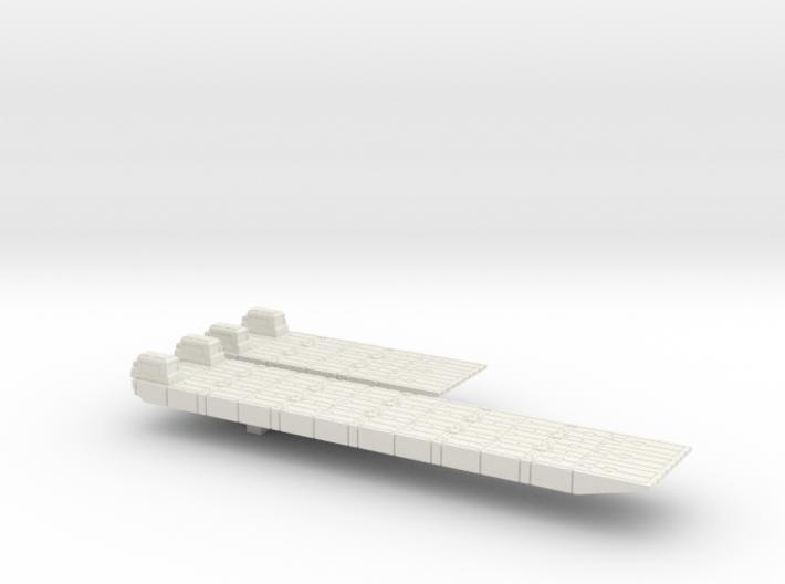 1/700 Scale British Army Mexeflote Powered 3d printed