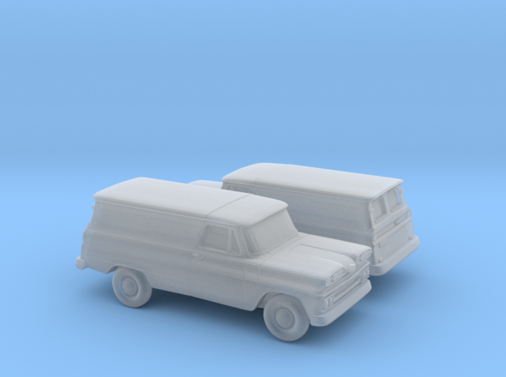 1/160 2X 1960-61 Chevrolet Panel Van 3d printed
