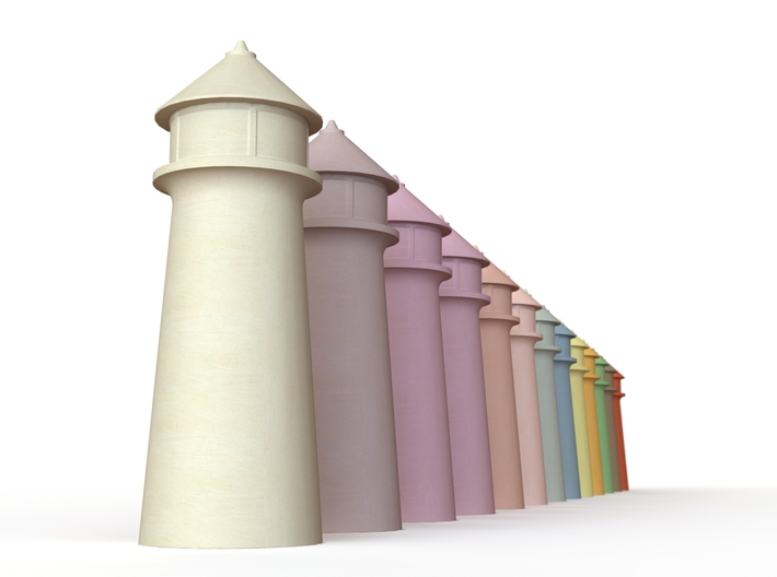 Lighthouse Pastel Yellow 3d printed