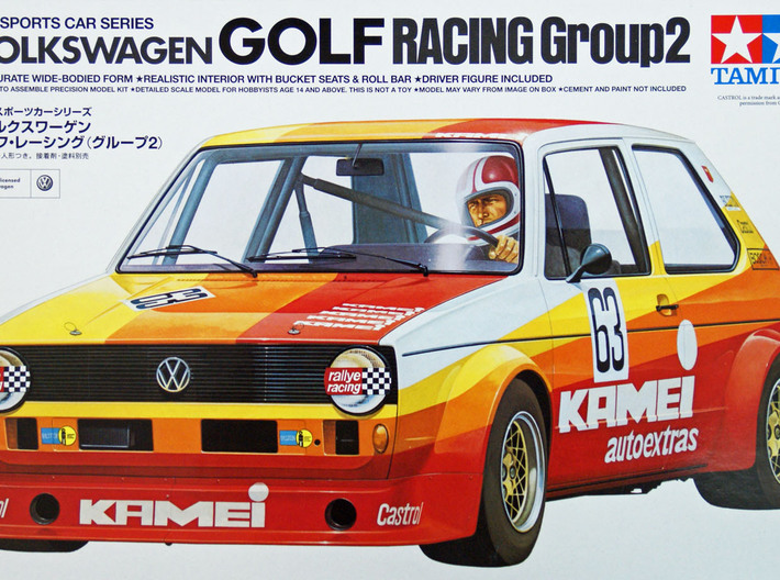 MagDragster V2 - Golf MK1 Chassis - RC Car 1/24 3d printed You need the body from this kit - Tamiya #24008 - 1/24 Scale