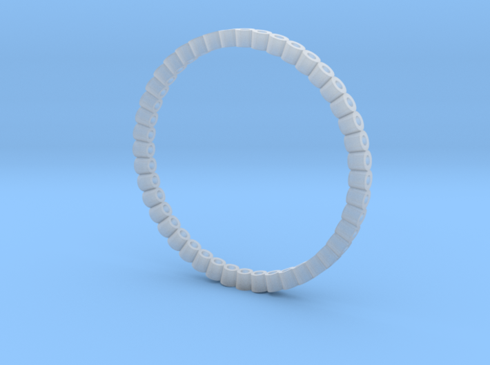 Pierced Picot Stacking Ring 3d printed