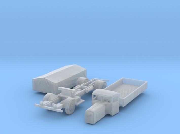 Henschel 6J2 Pritsche mit Plane (1/144) 3d printed