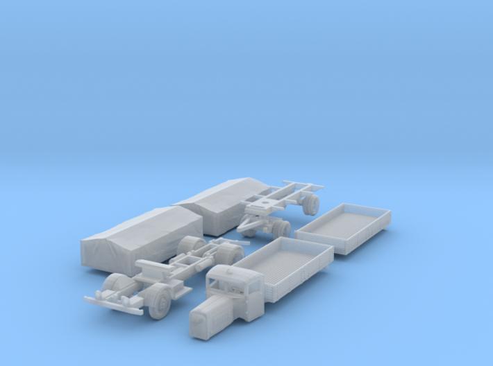 Henschel 6J2 Pritsche Plane-Lastzug (1/144) 3d printed
