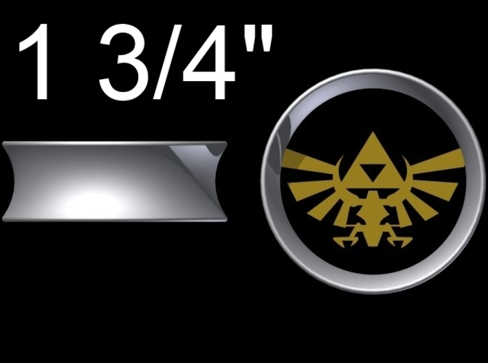"Triforce Gauge (1 3/4"") 3d printed Autodesk Two Color Render"