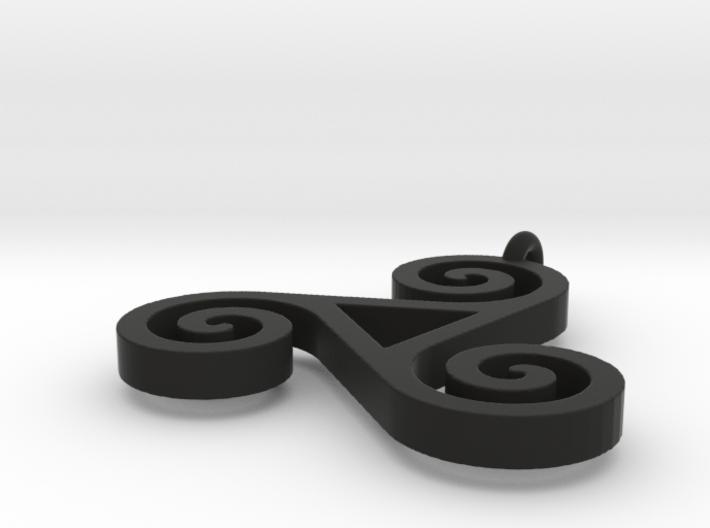 Triskele Pendant 1.5 Inch 3d printed